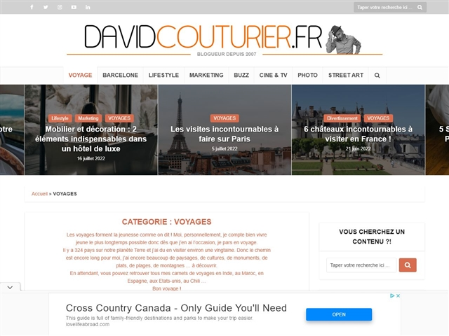 DAVIDCOUTURIER.FR : Voyages