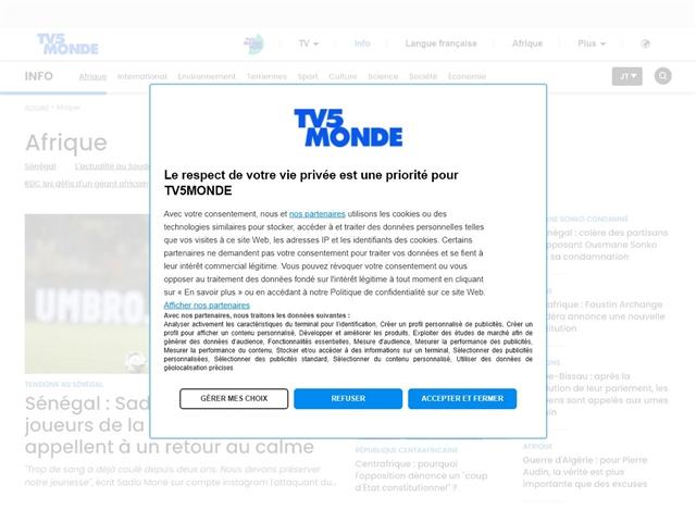 TV5 Informations : Afrique