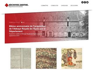 Sarthe (72) - Archives départementales