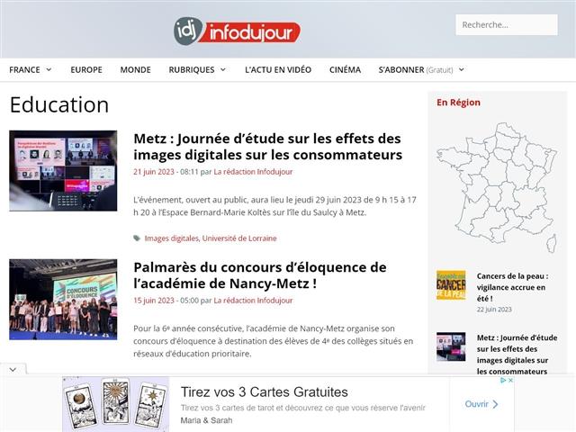 IDJ - Info du Jour : Education