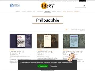 La vie des idées : Philosophie