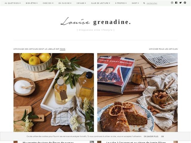 Louise Grenadine : Food