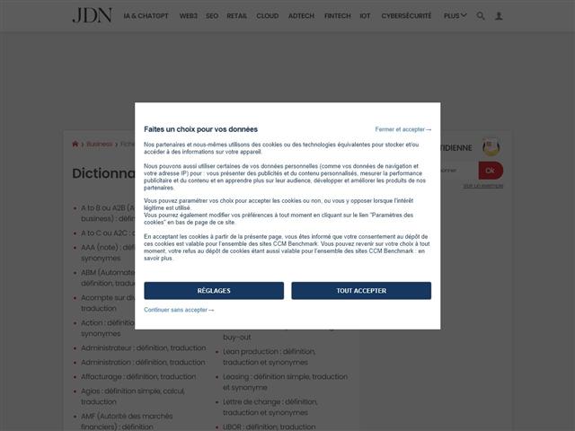 JDN : Dictionnaire Economique et Financier