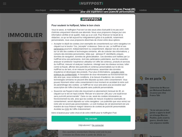 Huffington Post : Immobilier