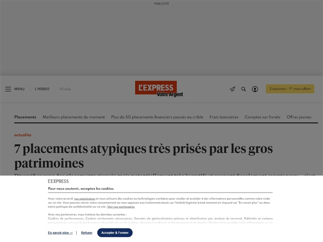Express - Argent : Investissements atypiques