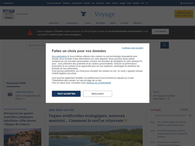Le Figaro : Voyages