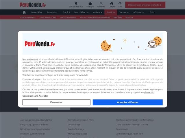 ParuVendu : Services  à la personne