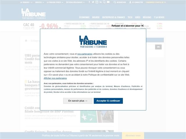 La Tribune : Banque