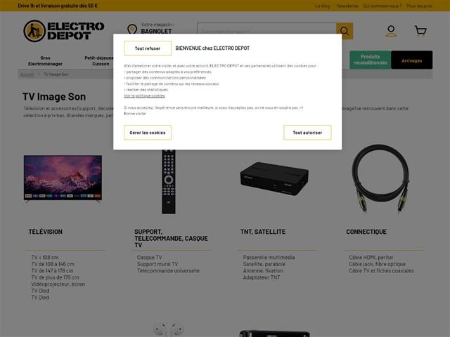 Electro Dépôt : TV Image Son
