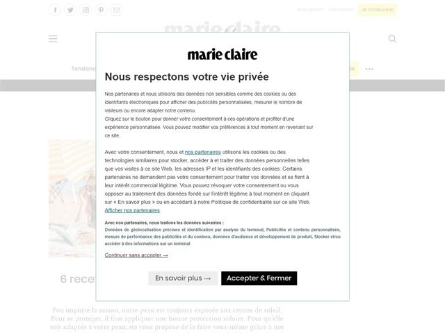 Marie Claire Idées : DIY Beauté