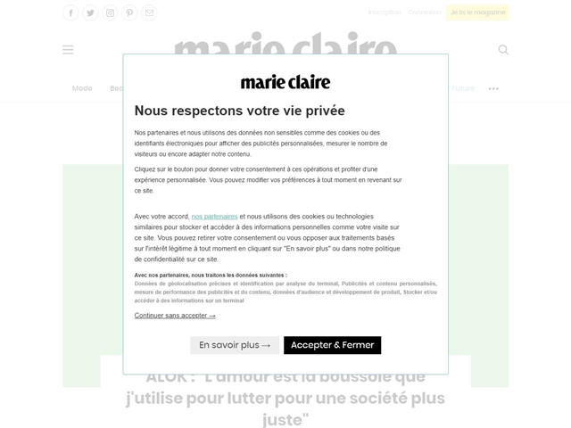 Marie Claire : Mode