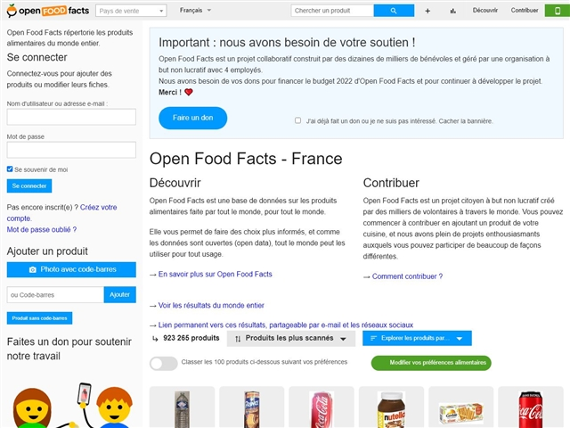 Open Food Facts - France