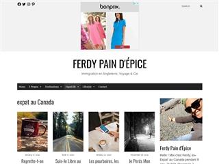 Ferdy Pain d'Epice : Expat au Canada