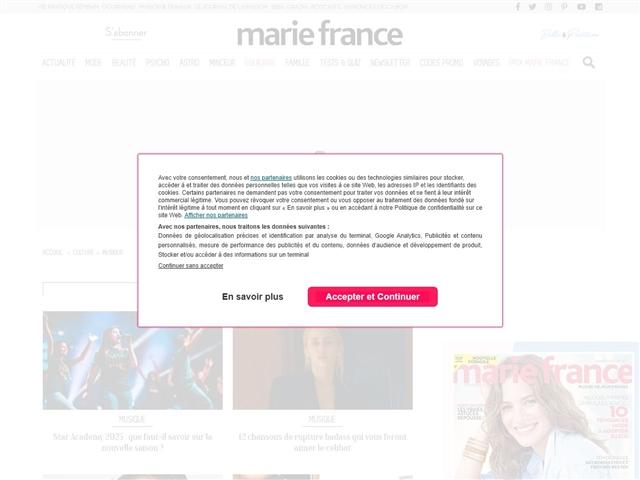 Marie France : Musique