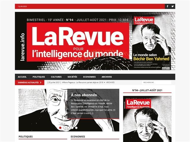 LA REVUE - pour l'intelligence du Monde -