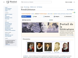 Wikipedia : Portail Littérature