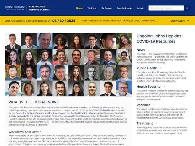 Université Johns Hopkins : Ressources sur le coronavirus
