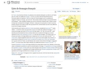 Wikipédia : Liste de fromages français