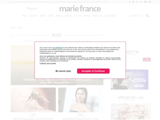 Marie France : Mode