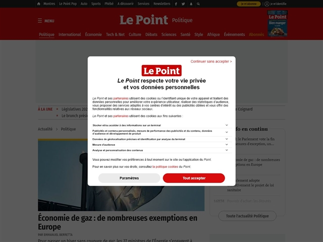 Le Point : Politique