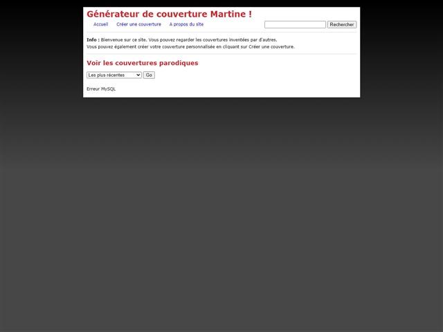 Générateur de couverture de Martine