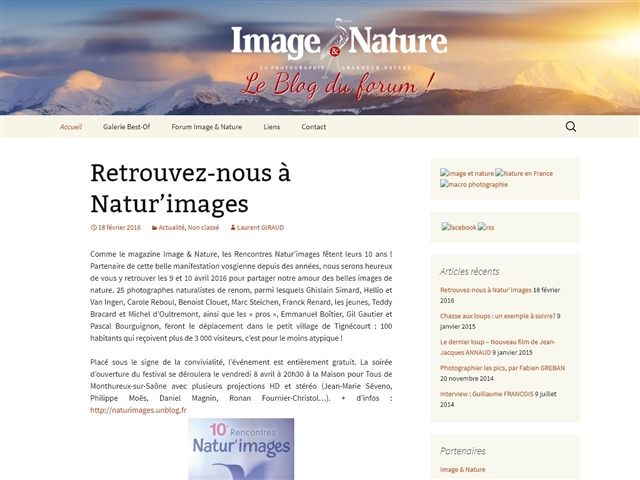 Image & Nature : Blog
