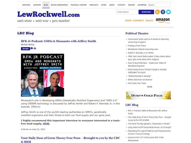 Lew Rockwell : Blog