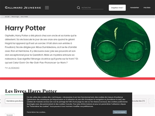 Harry Potter (site officiel du livre)