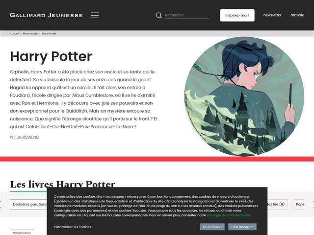 Harry Potter (site officiel du livre)