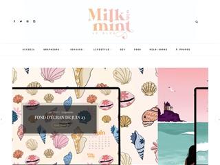 Milk with mint