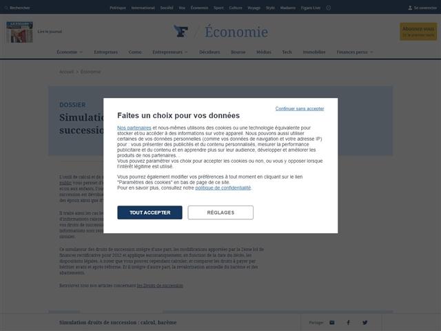 Le Figaro : Estimez vos Droits de Succession