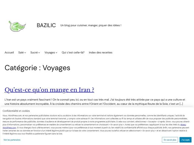 Bazilic : Voyages