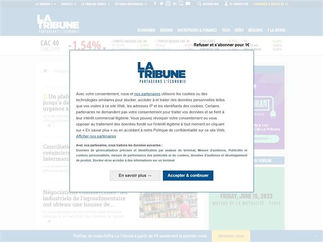 La Tribune : Distribution