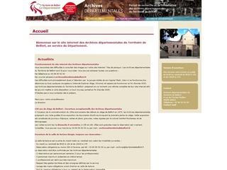 Territoire de Belfort (90) - Archives départementales