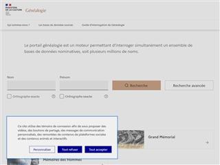 Culture.fr : généalogie