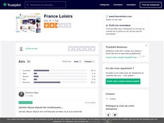Trustpilot : France Loisirs