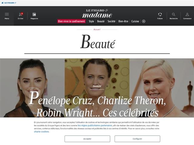 Madame Figaro : Beauté