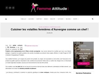 Femme Attitude : Cuisine et Nutrition