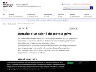 Service Public : Retraite
