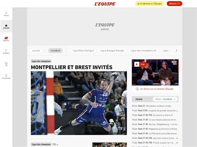 L'Équipe : Handball