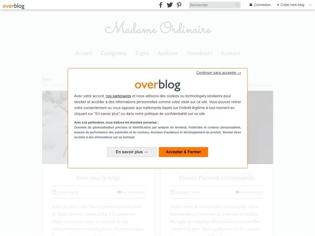 Madame Ordinaire : Brest