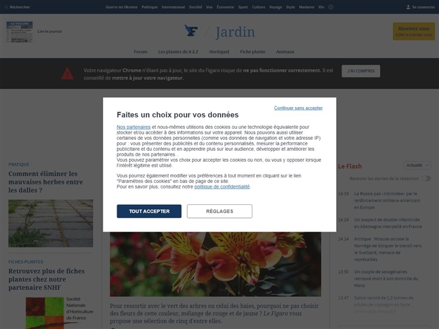 Le Figaro : Jardin