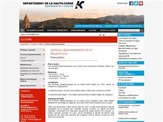 Haute-Corse (2A) - Archives départementales