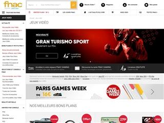 Fnac : Jeux vidéo