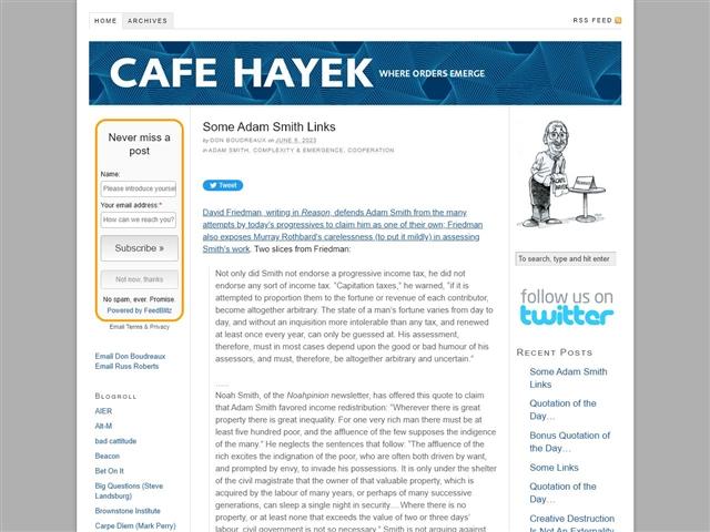 Cafe Hayek