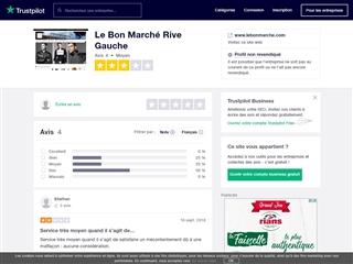 Trustpilot : Le Bon Marché