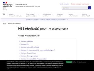 Service Public : Assurance
