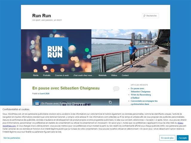 Run, reporter, run...