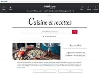 Madame Figaro :  Cuisine