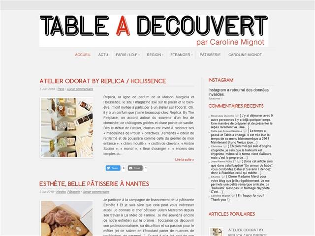 Table à Découvert